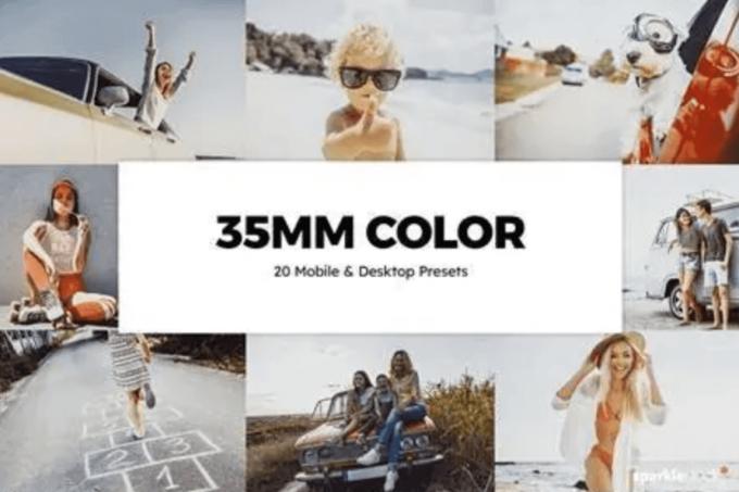 Adobe Lightroom Free Preset .xmp .lrtemplate Film 無料 フリー フィルム レトロ 20 35mm Color Lightroom Presets LUTs