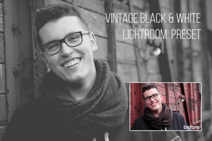 Adobe Lightroom Free Preset .xmp .lrtemplate 無料 フリー モノトーン モノクローム モノクロ 白黒 Free Vintage Black & White Lightroom Preset
