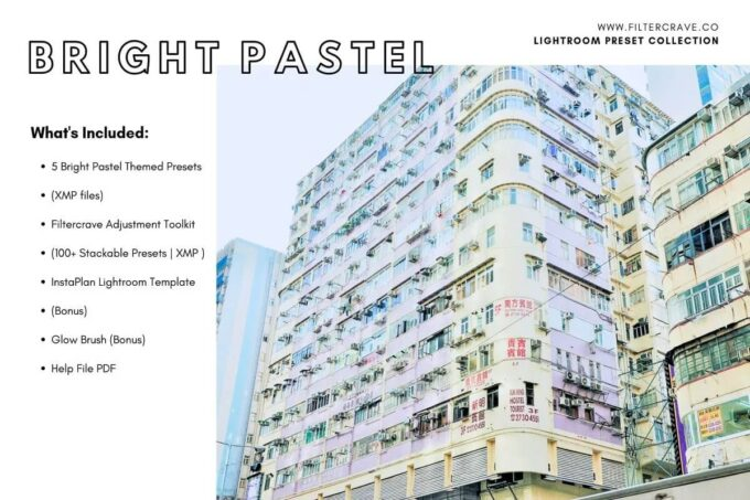 Adobe Lightroom Free Preset .xmp .lrtemplate Pastel 無料 フリー パステル Bright Pastel Lightroom Presets