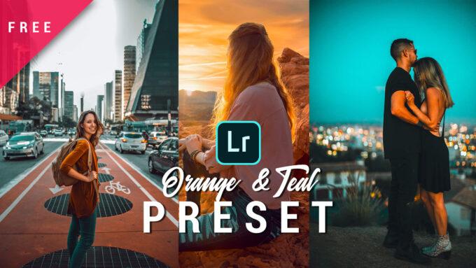 Adobe Lightroom Free Preset .xmp .lrtemplate 無料 フリー シネマ ティール&オレンジ Teal and orange lightroom preset