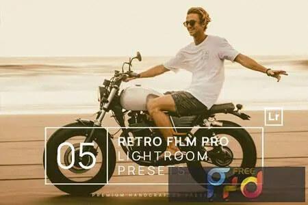 Adobe Lightroom Free Preset .xmp .lrtemplate Film Retro Vintage 無料 フリー フィルム レトロ ヴィンテージ 5 Retro Film Pro Lightroom Presets + Mobile