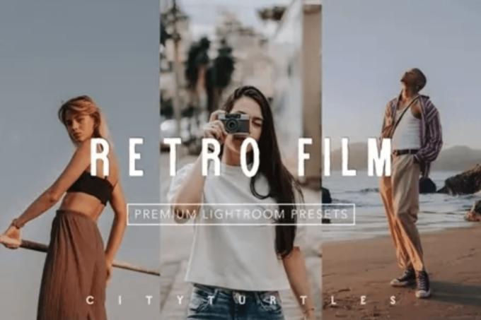 Adobe Lightroom Free Preset .xmp .lrtemplate Film Retro Vintage 無料 フリー フィルム レトロ ヴィンテージ RETRO FILM Lightroom Presets Pack