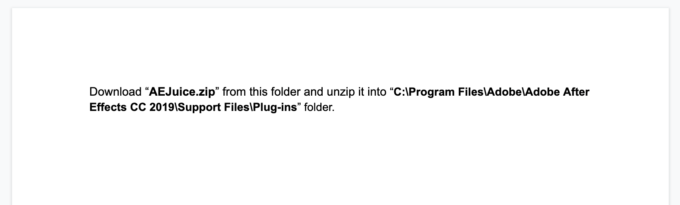 AE Juice Pack Manager インストール マニュアル Windows