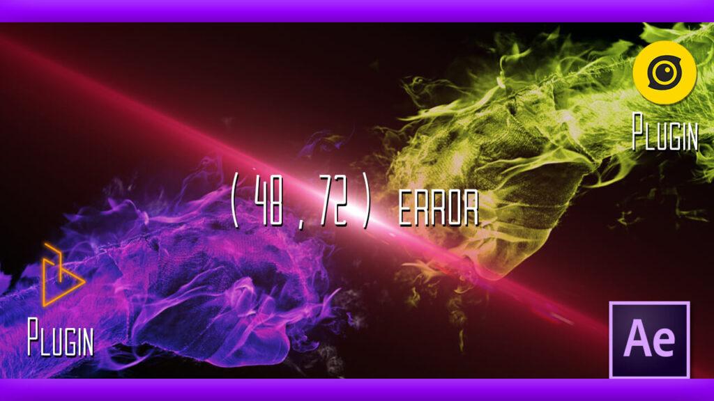 After Effects プラグイン エラー 48 72