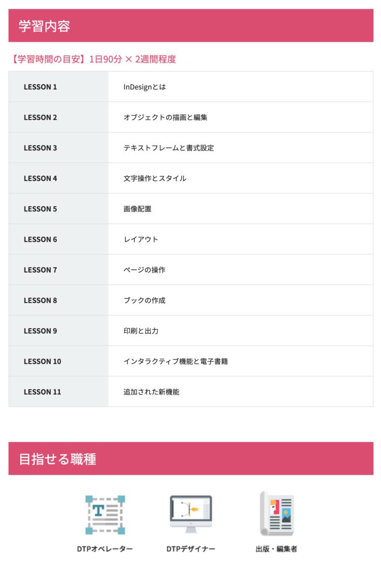 Adobe CC アドバンスクール 通信講座 InDesign 安い