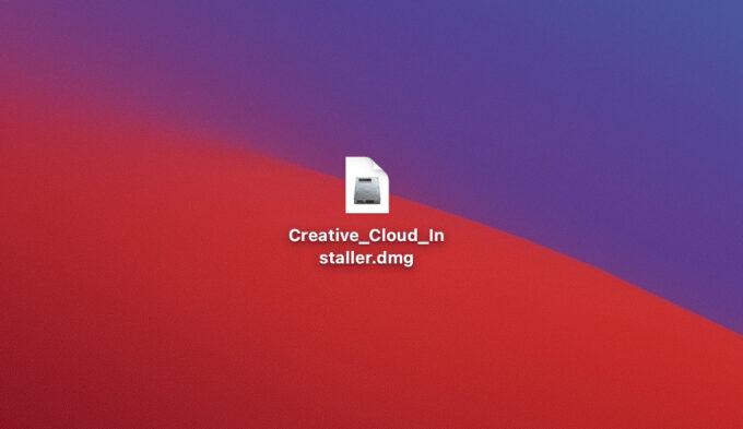 Adobe Creative Cloud インストーラー Creative_Cloud_Installer.dmg