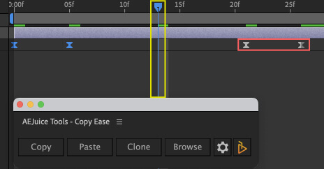 Adobe After Effects AE Juice Copy Ease 無料 プラグイン スクリプト キーフレーム 複製 alt 反転