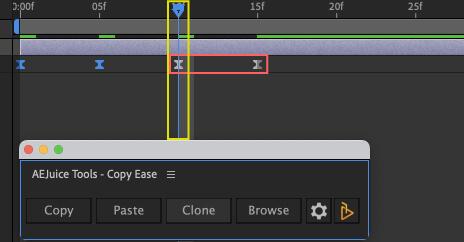 Adobe After Effects AE Juice Copy Ease 無料 プラグイン スクリプト キーフレーム Clone 複製