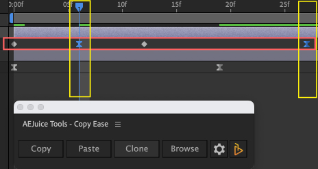 Adobe After Effects AE Juice Copy Ease 無料 プラグイン スクリプト Browse イージングプリセット  コピー ペースト Copy
