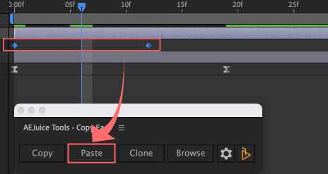 Adobe After Effects AE Juice Copy Ease 無料 プラグイン スクリプト Browse イージングプリセット  コピー ペースト Copy Paste