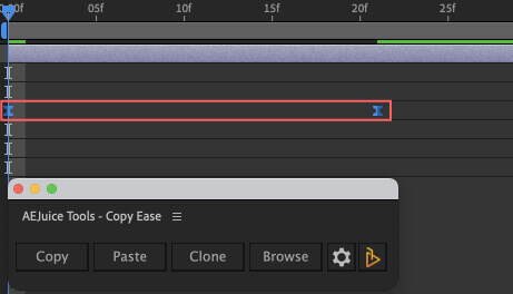 Adobe After Effects AE Juice Copy Ease 無料 プラグイン スクリプト Browse イージングプリセット 適用