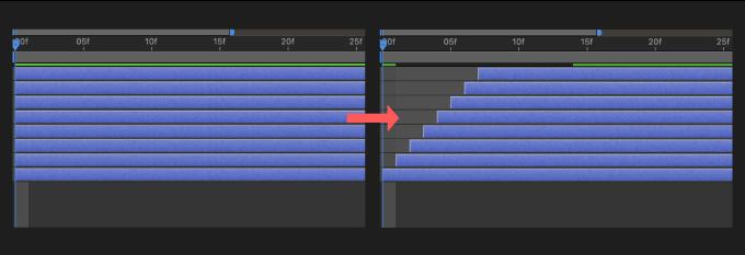 Adobe CC After Effects AE Juice  Shifter 機能 使い方 解説 階段 再配置
