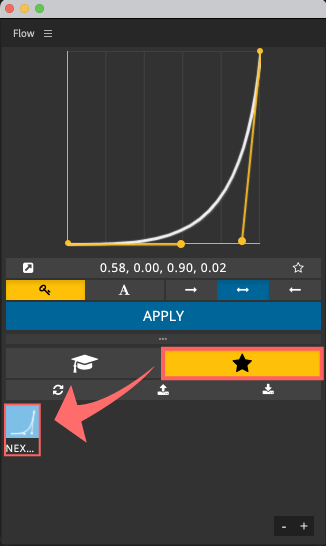 Adobe CC After Effects Plugin Flow User Curves Save プリセット お気に入り 登録