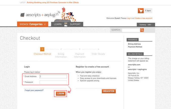 Adobe CC After Effects Flow 購入 買う 方法 手順 買い方 解説 購入 ログイン
