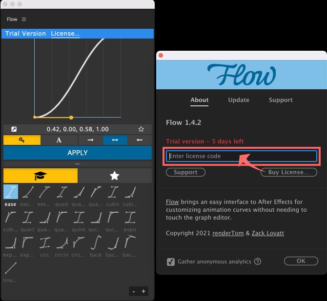 Adobe CC After Effects Plugin Flow ライセンス 登録