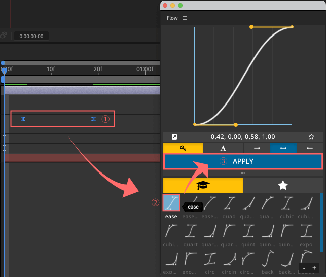 Adobe CC After Effects Plugin Flow プリセット 適用