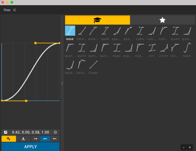 Adobe CC After Effects プラグイン Flow ツール パネル