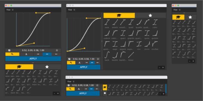 Adobe CC After Effects Plugin Flow ツール パネル レスポンシブ サイズ