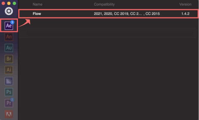 aescripts + aeplugins ZXP Installer Flow インストール 完了