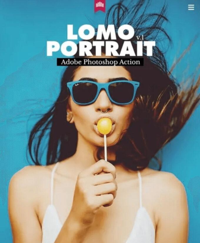 Adobe Photoshop Free Action Material フリー アクション 素材 LOMO ロモグラフィー トイカメラ Lomo Portrait Action