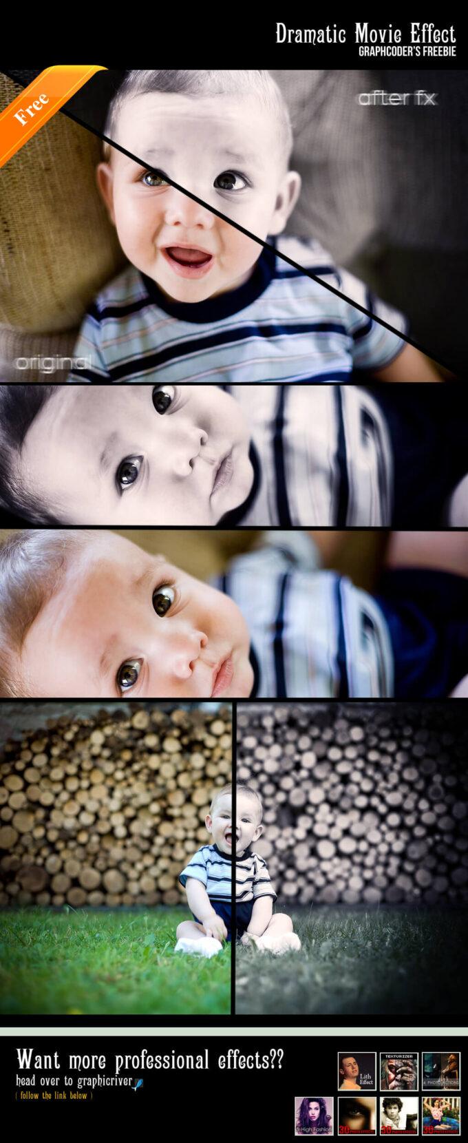 Adobe Photoshop Free Action Material フリー アクション 素材 LOMO ロモグラフィー トイカメラ Movie Drama Effect Action