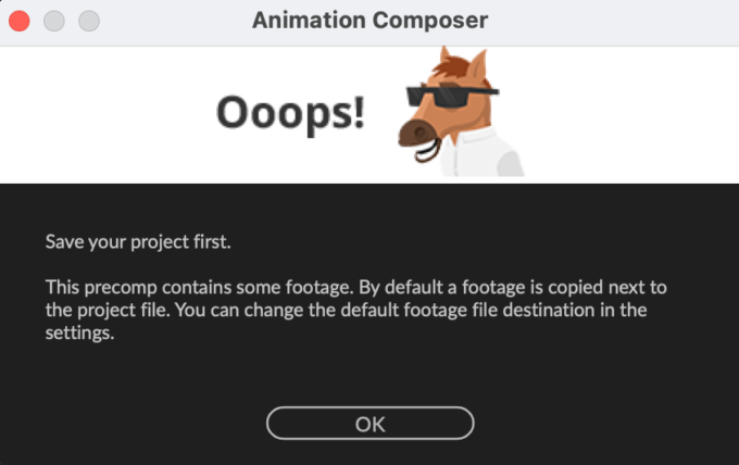 Adobe CC After Effects Animation Composer Starter 無料 機能 解説 エラー 警告 バグ 解決