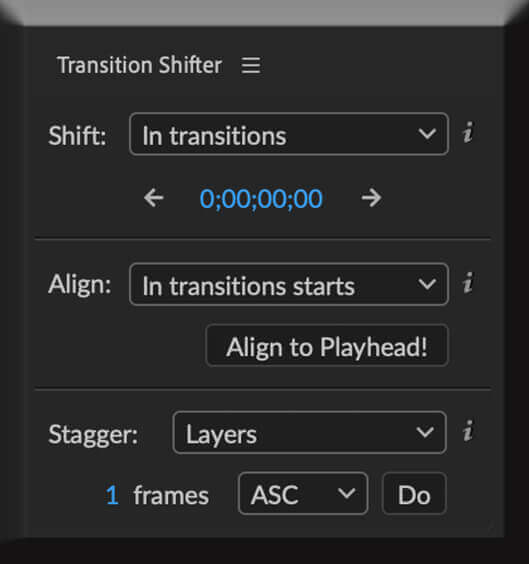 Adobe CC After Effects Animation Composer Starter Sounds 無料 機能 解説 Tools Transition Shifter
