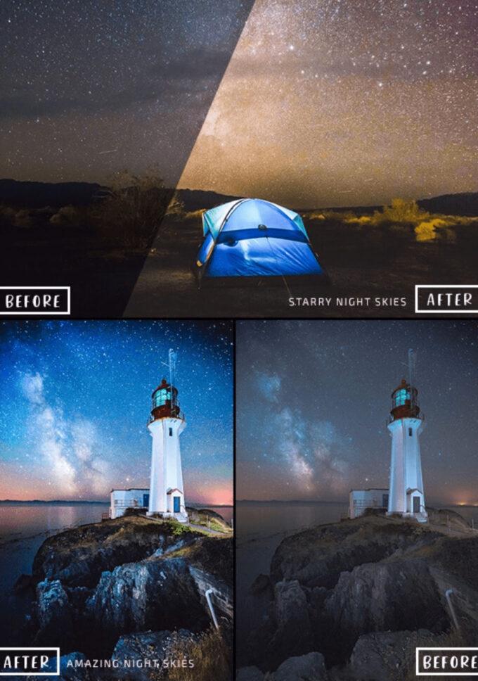 Adobe Lightroom Free Preset .xmp .lrtemplate 無料  星空 フリー 20 Pro Astrophotography Lightroom Presets
