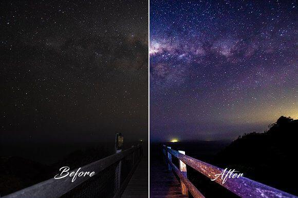 Adobe Lightroom Free Preset .xmp .lrtemplate 無料  星空 フリー Lightroom Preset Milky Way